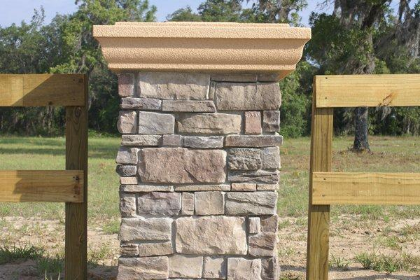 Residential Stone Columns : Stone columns interior exterior foam banding custom