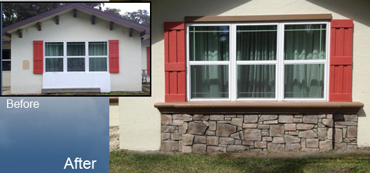 Before And After Home Remodeling Stucco Foam Accents